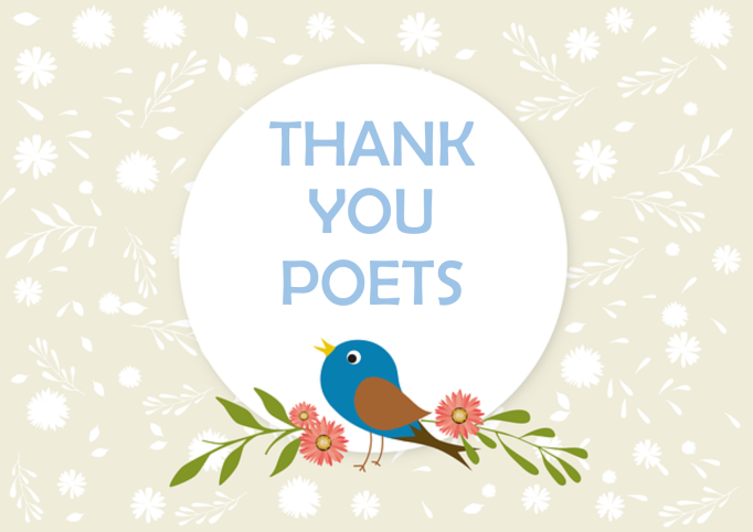 GloPoWriMo end of event Thank you